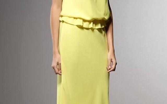 abito giallo matrimonio