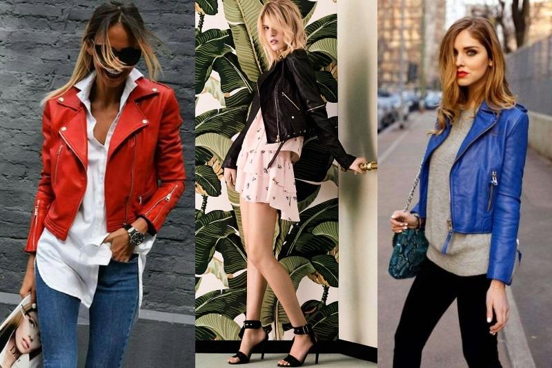 chiodo pelle 90 anni tendenze moda primavera 2018