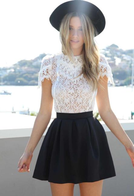 new product ed017 c2cc8 Abbigliamento di moda, i vostri sogni: Gonna a vita alta nera