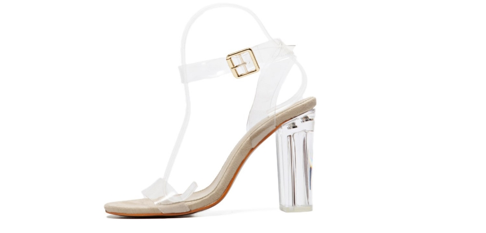 sandalo plexiglass