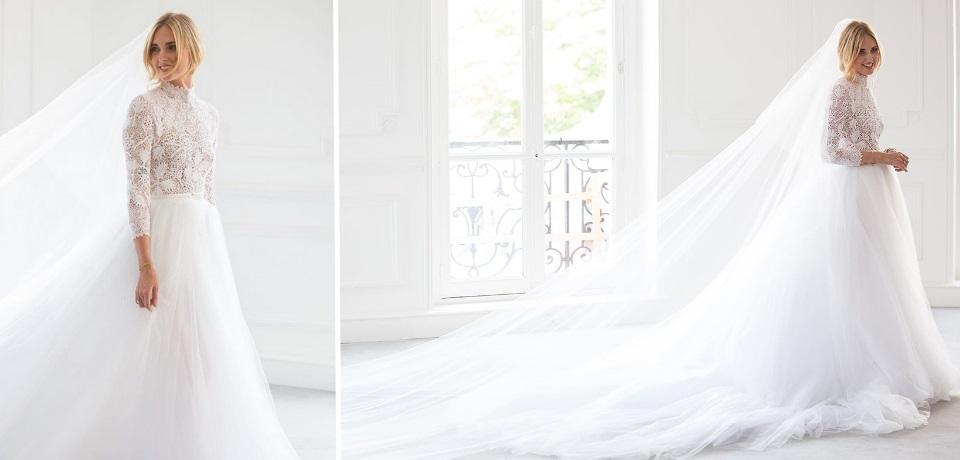 vestito da sposa chiara ferragni dior matrimonio fedez
